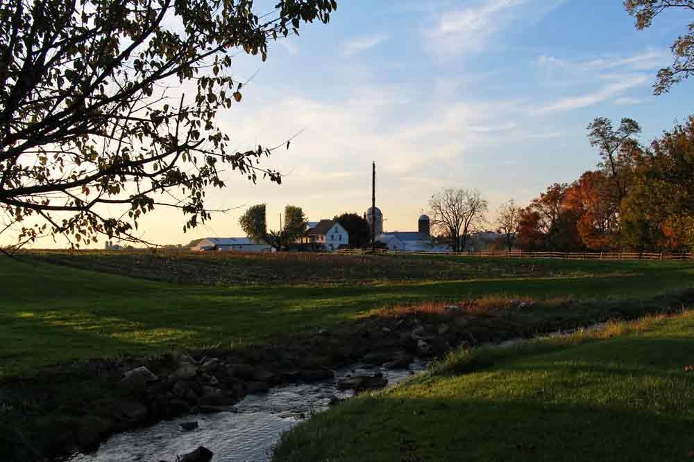 Sunset at Iron Stone Acres Farm Bed and Breakfast Lancaster PA
