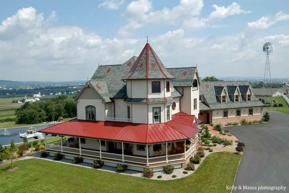 Hurst House Bed & Breakfast Ephrata, Lancaster County PA from above